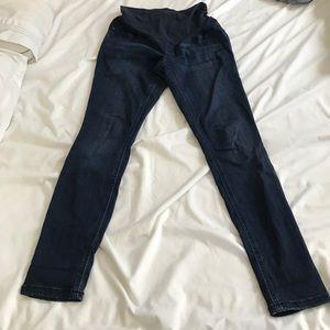 Maternity skinny blue jeans